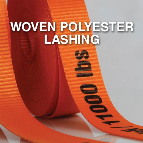 Narrowtex AAR approved woven polyester lashing